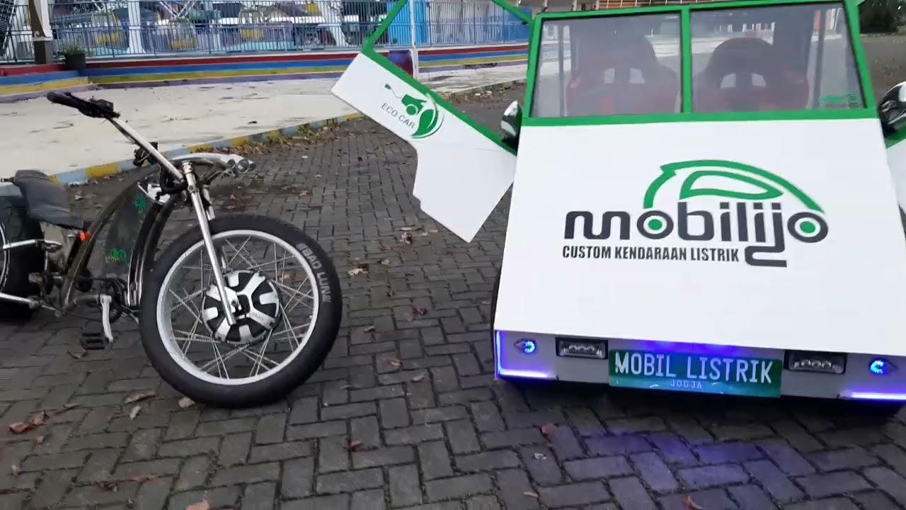 Jln2 dgn Mobil listrik karya sendiri @Mobilijo custom Kendaraan listrik CP 08122669090