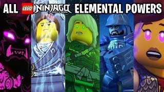 ALL 25+ LEGO NINJAGO Elemental Powers! (2011-2019)