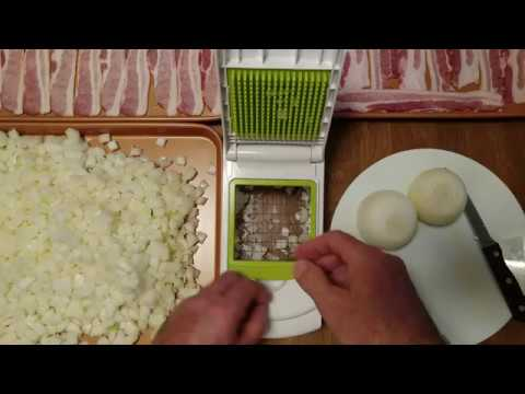 How To Large Chop Onions Using Sharper Image Chopper Youtube