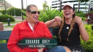 Samantha con Eduardo Grey (su padre).