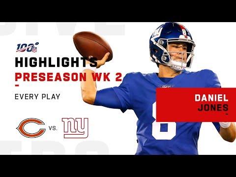Every Daniel Jones Play Vs. Bears | NFL 2019 Highlights