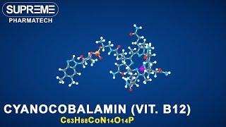 Cyanocobalamin (vitamin B12)   C63H88CoN14O14P   3D molecule