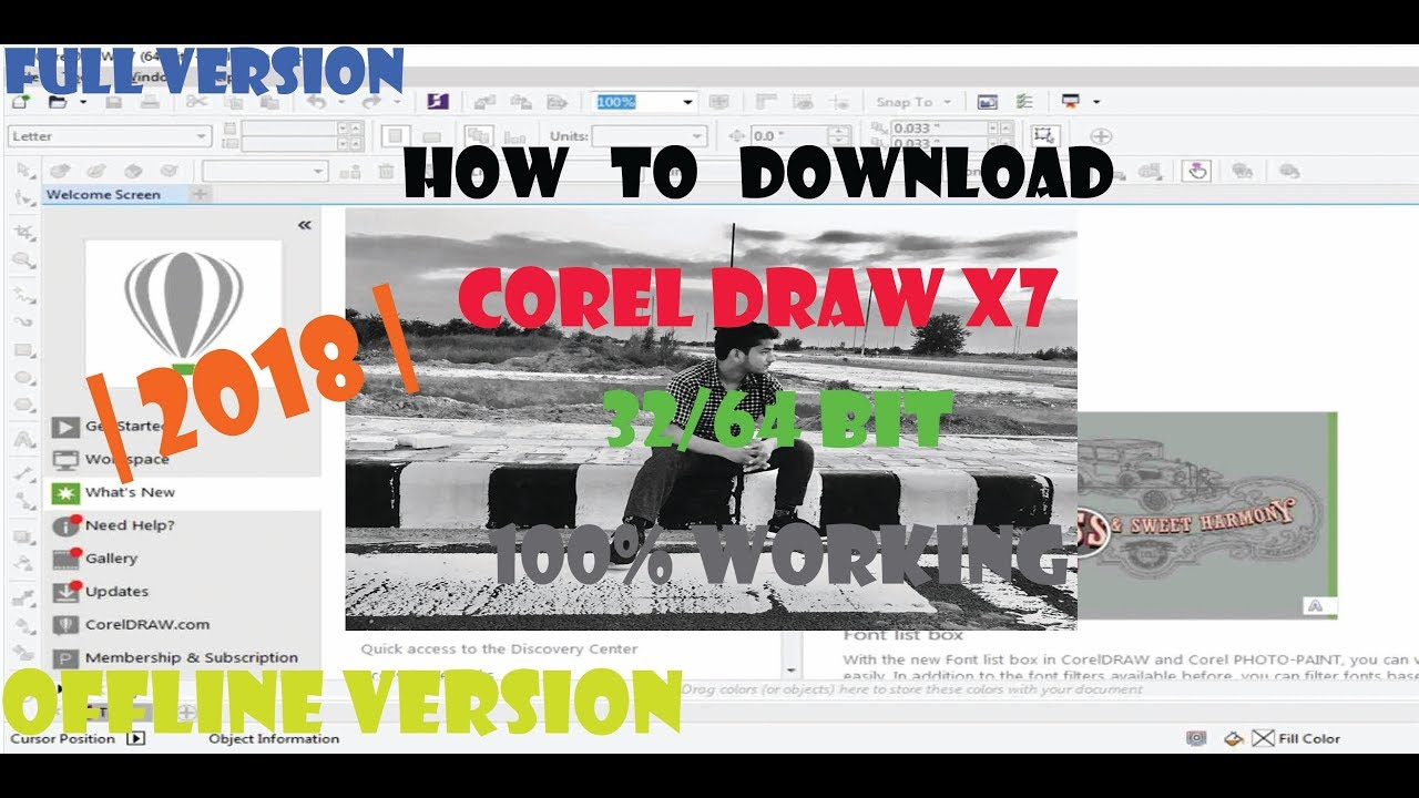 How To Download Corel Draw X7 32 64 Bit Full Version 2018 Youtube