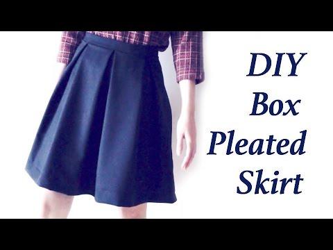 e6c748b2c3 DIY Box Pleated Skirtㅣmadebyaya - YouTube
