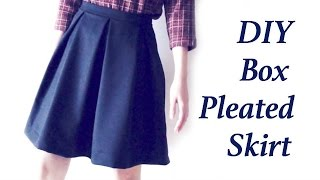 Sewing + Diy Box Pleated Skirt