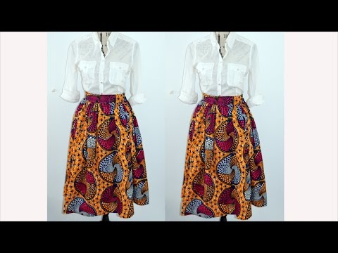 DIYHowTo Make AGathered Mid Skirt ( Easy Sewing)