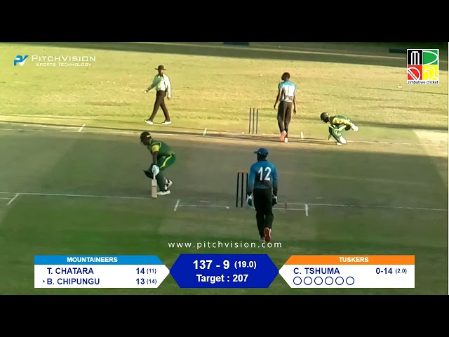 Zimbabwe Domestic T20 | 9th Match | Tuskers vs Mountaineers