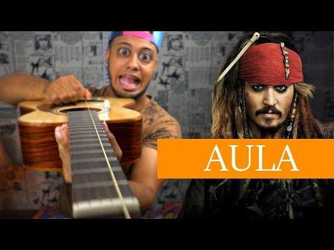 Como TOCAR Piratas do Caribe com 1 corda