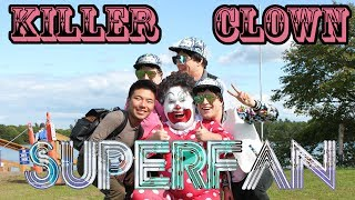 killer clown super fan public prank