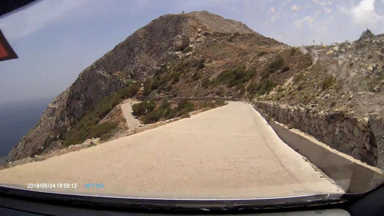 Most Dangerous Roads Santorini, Greece
