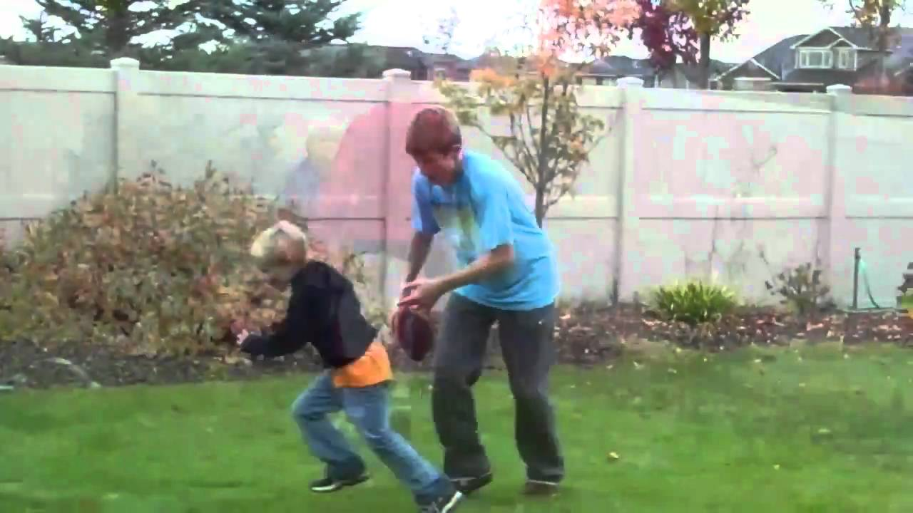 Biggest Backyard Football Hits : Little kids football hits (big)  YouTube