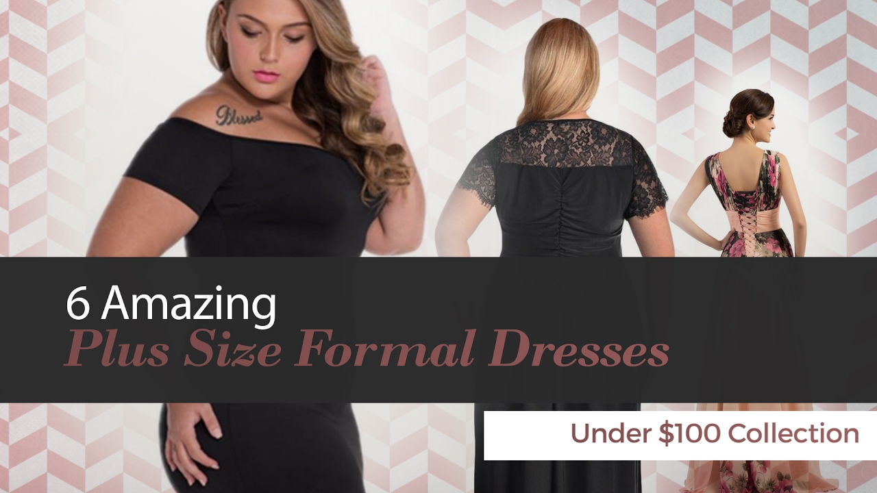 e85c8ad3466 6 Amazing Plus Size Formal Dresses Under  100 Collection - YouTube