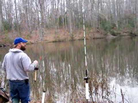 Bass fishing with live bait in winter youtube for Bass fishing in winter