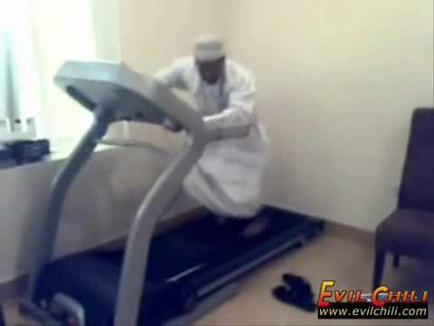 Arab Walking On A Treadmill Funny