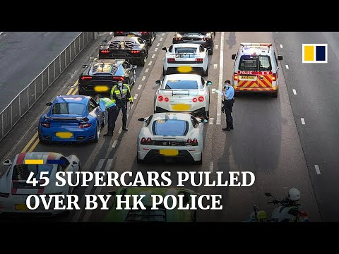 Hong Kong police intercept 45 luxury sports cars over suspected street racing