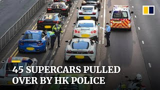Download Hong Kong police intercept 45 luxury sports cars over suspected street racing