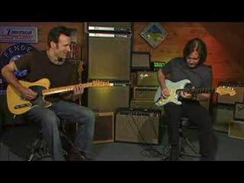 Dave Hunter & Carl Verheyen -- Fender Guitar Blues Jam