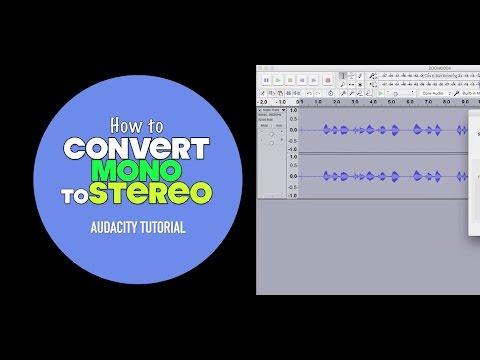 How To Convert Mono To Stereo | Audacity Dual Mono Tutorial