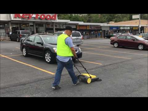 outdoor parking lot cleaning