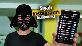 Siyah Instagram kullandık! - Instagram karanlık modu yükledik!