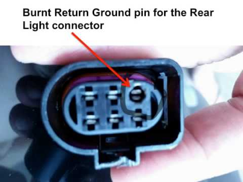 audi tt left rear ground youtube a light socket wiring diagram t5 light socket wiring diagram