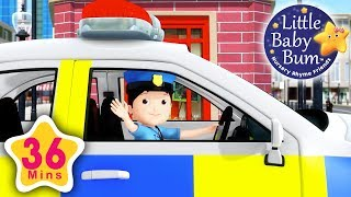 Police Song | Learn with Little Baby Bum | Nursery Rhymes for Babies | Songs for Kids