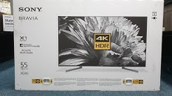 "Sony XG95 2019 4K HDR 55"" Unboxing and Retail Demo. XG9505"