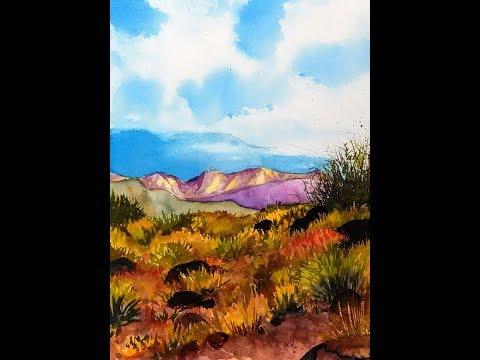 LIVE: Southwestern Landscape in Watercolors 12:30pm ET