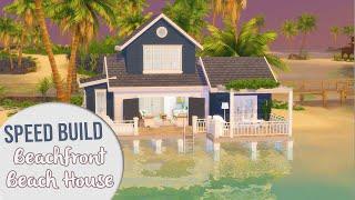The Sims 4 Speed Build   BEACHFRONT BEACH HOUSE + CC Links
