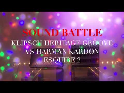 Klipsch Heritage Groove vs  Harman Kardon Esquire 2 sound battle and review