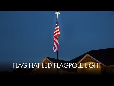 Flag-Hat LED Flagpole Light Installation