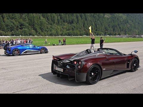 Pagani Huayra Roadster vs Zenvo TSR-S