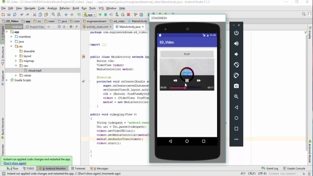 29 how to play video in android studio videoview tutorial youtube how to play video in android studio videoview tutorial youtube ccuart Images