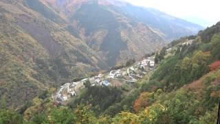 """日本のチロル""""と称される、長野県飯田市上村「下栗(しもぐり)の里」。..."""