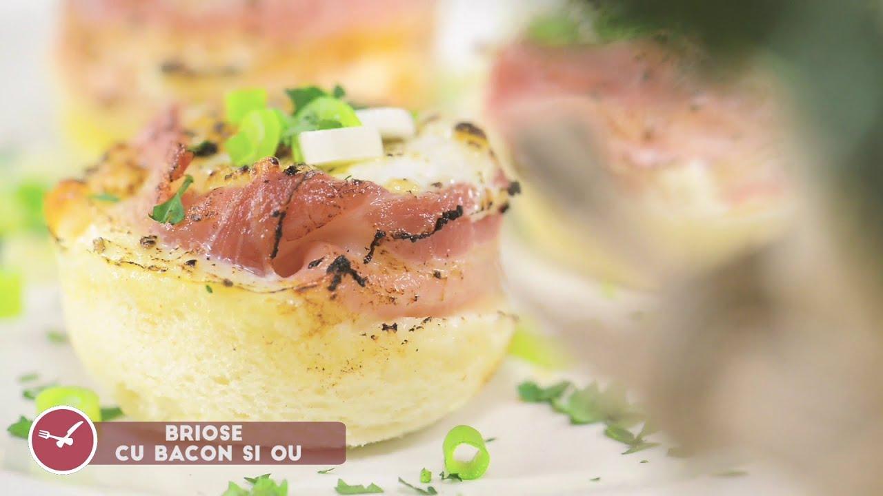 Reteta - Briose sarate cu bacon si ou | Bucataras TV
