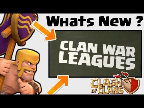 New Coc Update : Clan War League    August Update    In Hindi