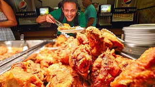 Giant AMISH BUFFET!! Fried Chicken + Beef Brisket  $14.99 All You Can Eat American Country Food!