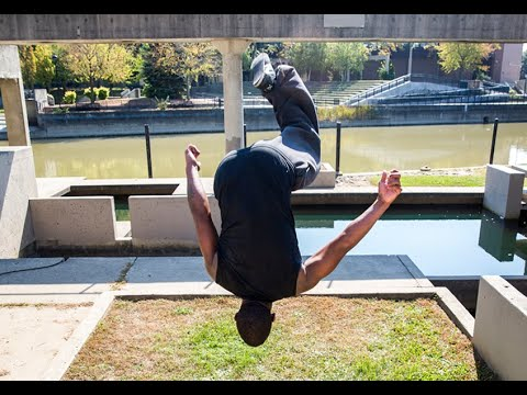 Parkour athlete Xavier Smith takes flight in Flint