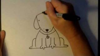 How To Draw A Cartoon Dog Easy Drawing Tutorial