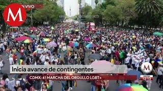 Inicia la marcha 41 del orgullo LGBT+