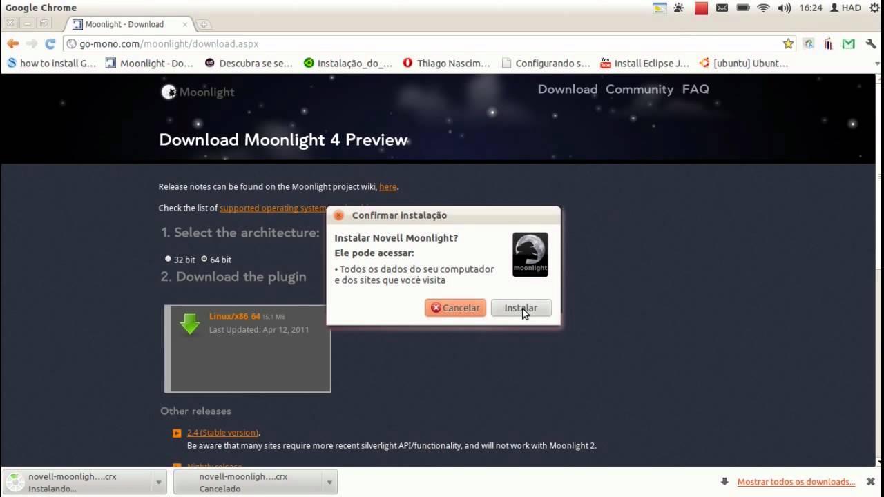 Série Ubuntu: Instalando Microsoft Silverlight (Moonlight)