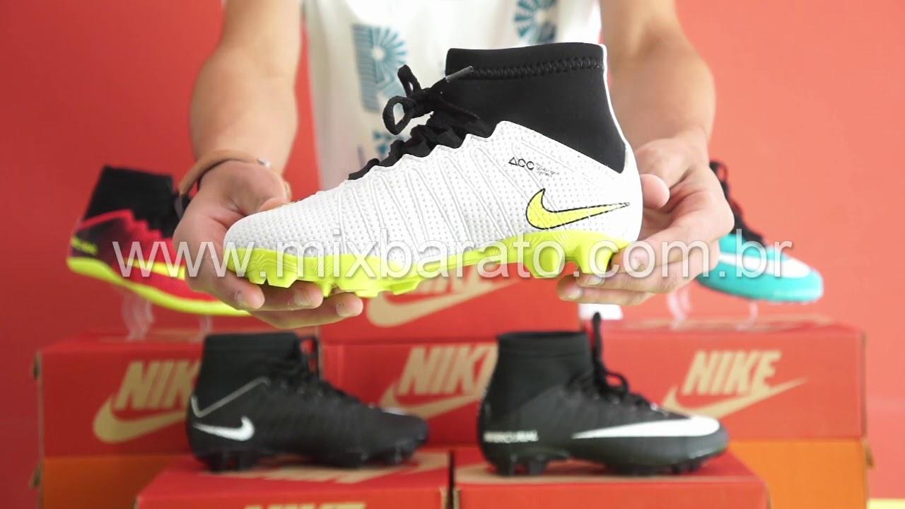 520c3ca57ecd7 Chuteira Nike Mercurial Cano Alto Infantil - Mix Barato - YouTube