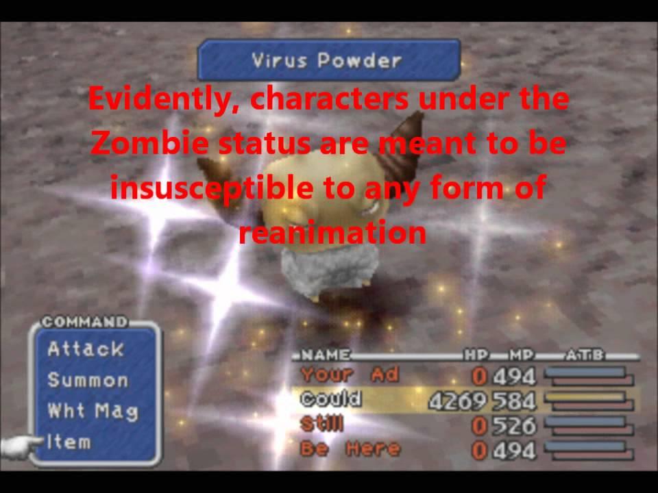 Final Fantasy IX Auto-Life Zombie Glitch / Bug