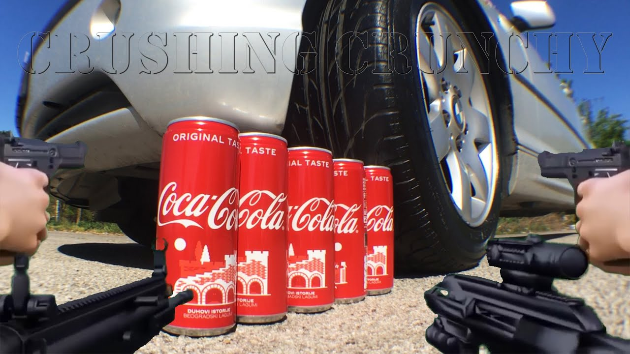 Crushing Crunchy and Soft Things by Car - EXPERIMENT: Car vs Coca Cola