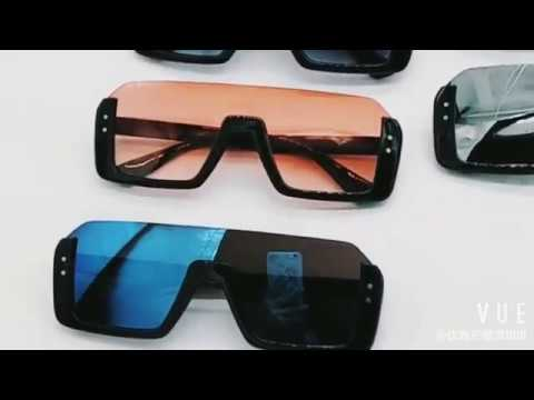 e3df1847d6 Fashion aviators flat top half frame shield sunglasses - YouTube