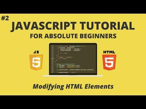 JavaScript for Beginners #2 -  Modifying HTML Elements (getElementByID, innerHTML etc. ) thumbnail