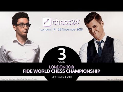 Caruana-Carlsen, Game 3 - 2018 FIDE World Chess Championship