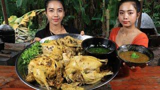 Tasty cooking chicken boiled with chili sauce recipe