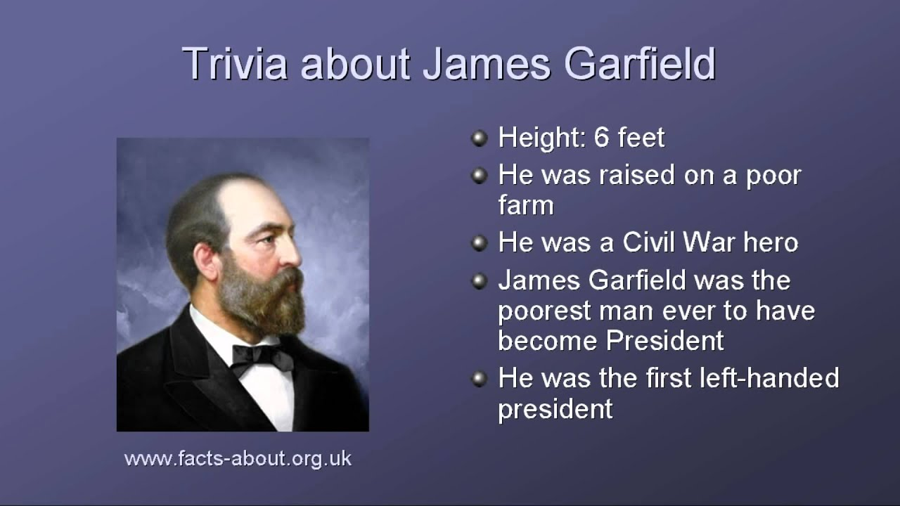 a biography of james a garfield a former us president James a garfield is credited as politician, former president of united states,  james a garfield was born in the log cabin of american myth on nov 19, 1831, near cleveland, ohio although his family dated back to the massachusetts.