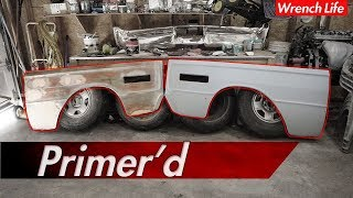 Prep & PRIMER classic car FENDER.. (FAIL)